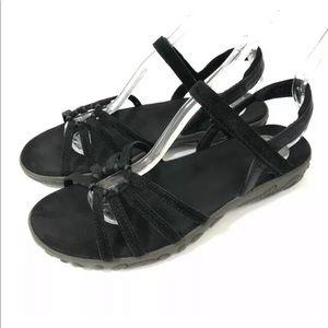 Teva Kayenta Sport Sandals Black Suede Size 8.5 M